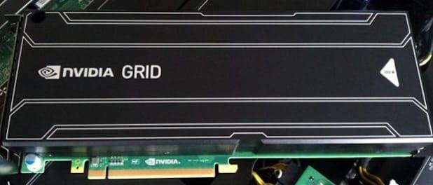 Bild: Die NVIDIA GRID Grafikkarte wurde speziell für den Serverbetrieb konzipiert. Sie stellt von Midrange bis Highend Grafikleistung bereit und ist vollwertig virtualisierbar. Im CEMA-Demo-Center können Kunden sich von der Leistungsfähigkeit der Technologie ein Bild machen.