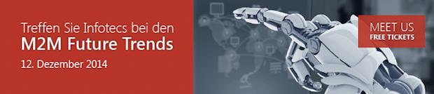 Bildunterschrift: Treffen Sie Infotecs bei den M2M Future Trends.