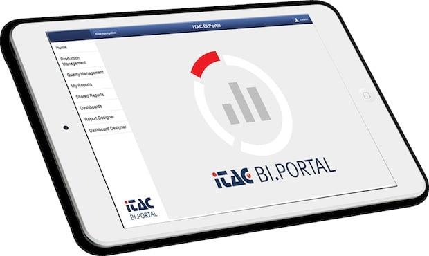 Bild: Anwendung BI-Portal auf einem Tablett.