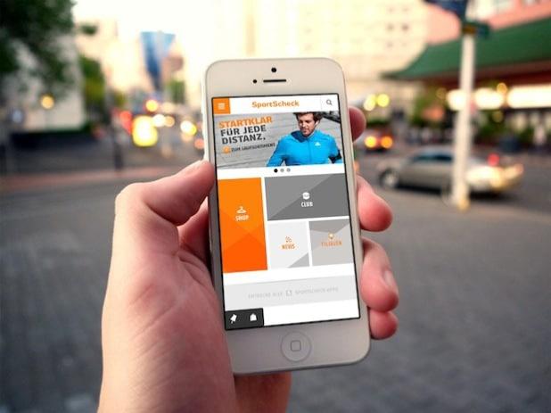 Bildunterschrift: TWT bringt neue Power für SportScheck App.