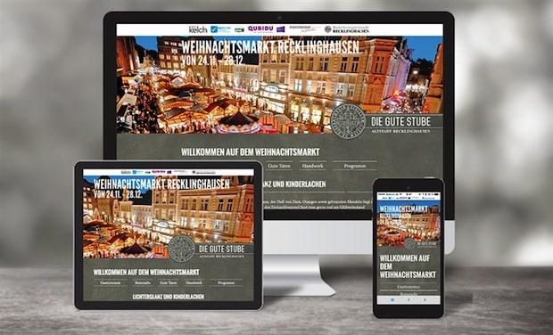 Bild: Qubidu präsentiert Digital-Konzept des Recklinghäuser Weihnachtsmarkts inklusive App und iBeacon.
