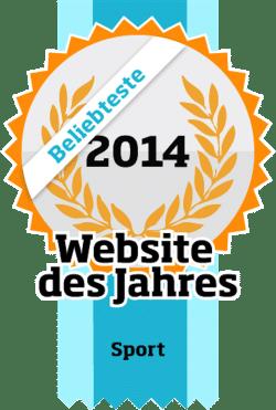 Bild: Beliebteste Website des Jahres der Kategorie Sport 2014.