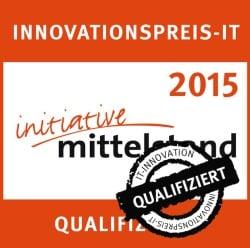 Bild: Innovationspreis IT 2015 qualifiziert.
