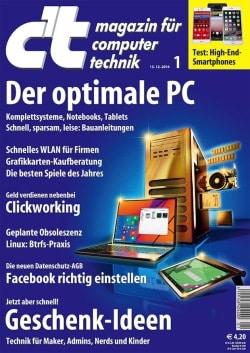 Bild: .Computermagazin c't aktuelle Ausgabe 1/15.