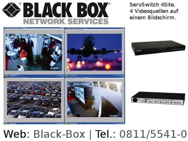 Photo of 4 Videoquellen auf einem Bildschirm mit neuem KVM-Switch von Black Box