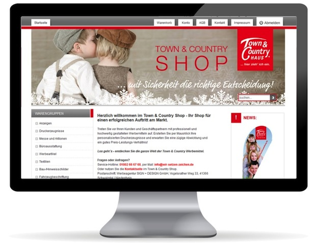 Photo of Town & Country ersetzt Webshop durch Web-to-Print System