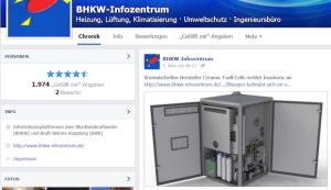 Blockheizkraftwerke und stromerzeugende Heizungen auf Facebook