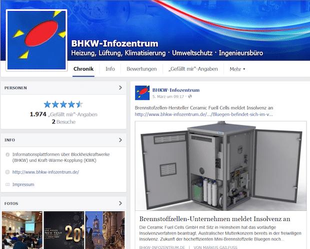 Photo of Blockheizkraftwerke und stromerzeugende Heizungen auf Facebook