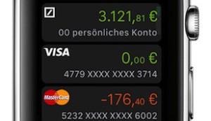 Das Konto am Handgelenk: Deutsche Bank bietet Banking mit der Apple Watch