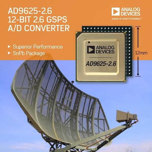 Photo of 2,6 GHz A/D-Wandler mit High-Reliability-Gehäuse erfüllt in Sachen Abtastrate und Dynamikbereich die spezifischen Anforderungen von Aerospace- und Rüstungs-Anwendungen