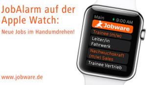 JobAlarm auf der Apple Watch