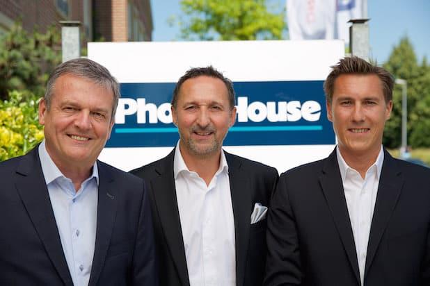 Die Geschäftsführung von Phone House - Herbert Borghs, Stefan Duelli und Florian Jung - von li. nach re. Foto: Phone House