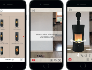 Mit Feuer und Flamme in die Zukunft: Ofen-App projiziert Kaminofen in das heimische Wohnzimmer
