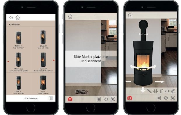 Photo of Mit Feuer und Flamme in die Zukunft: Ofen-App projiziert Kaminofen in das heimische Wohnzimmer