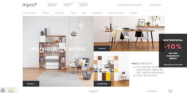 online m bel newcomer startet stark mycs. Black Bedroom Furniture Sets. Home Design Ideas