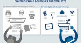 Studie zeigt Nachholbedarf bei der Digitalisierung deutscher Arbeitsplätze