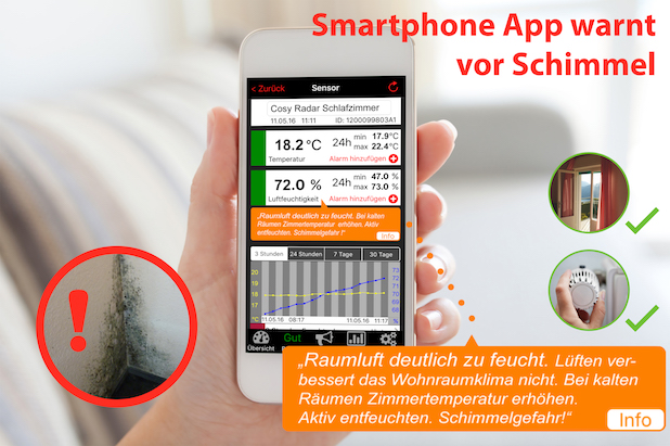 Photo of Smartphone-App warnt vor Schimmel