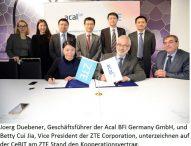 ZTE Deutschland und Acal BFi Germany vereinbaren Premium-Partnerschaft
