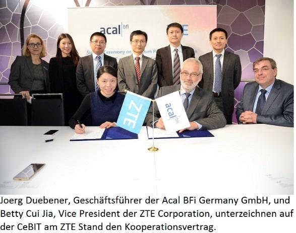 Photo of ZTE Deutschland und Acal BFi Germany vereinbaren Premium-Partnerschaft