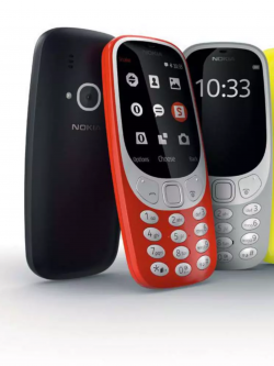 Nokia 3310 - in modernen poppigen Farben. Foto: HMD Global.
