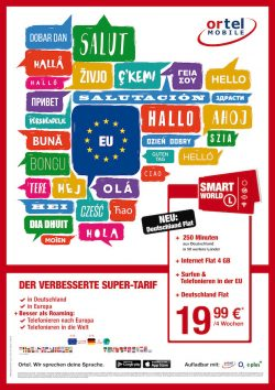 Smart World L-Option: Ortel Mobile erweitert Prepaid-Optionen