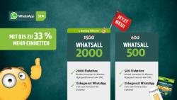 WhatsApp SIM erhöht Inklusiveinheiten seiner Tarif-Optionen