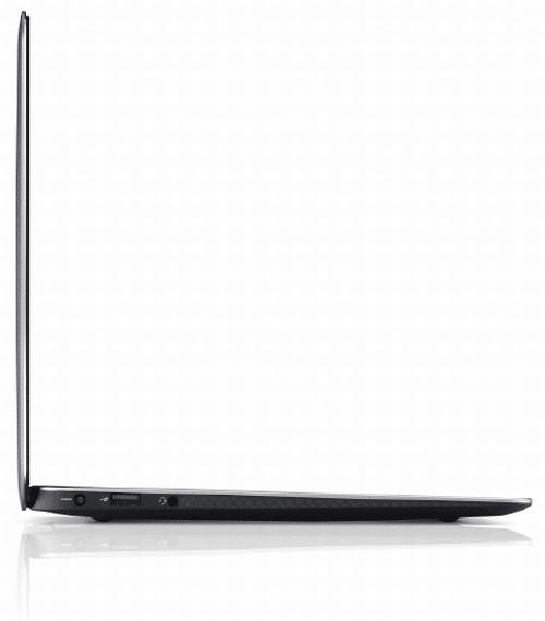 Dell XPS 13 in der Seitenansicht