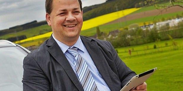 Foto: Sven Oliver Rüsche - Herausgeber und Chefredakteur TeDaMo - ein Produkt vom ARKM Online Verlag aus Gummersbach. Foto: Kathrin Menke