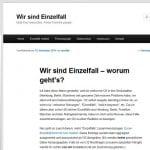"""Telekom Werbung auf O2 Protest-Blog """"Wir sind Einzelfall""""."""