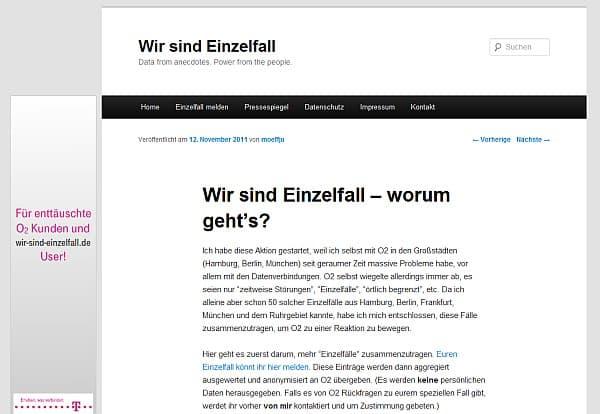 """Photo of Telekom unterstützt O2-Kundenschelte Website """"Wir sind Einzelfall"""""""